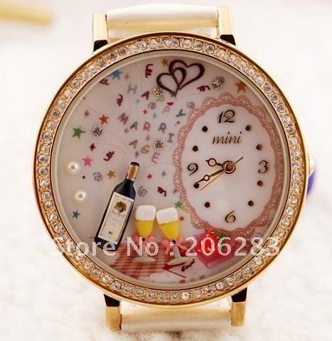 MN1045 Fashion originality MINI watch 3D marriage watch DIY women watch 1pc free shipping
