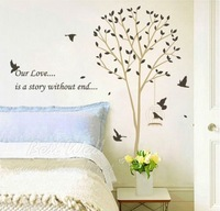 Free shipping wall sticker,DIY home decoration,living room sticker,60*90CM Love Story Stickers ,JM7094