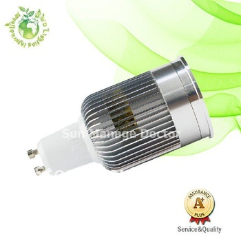 Free shipping AC220V gu10 9W LED Bulb,810LM,2 year warranty,3*3W LED spotlight
