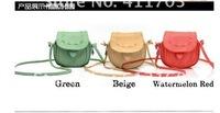 Korea Women's Girls Handmade Musette Drum leather bag Pattern Small Shoulder messenger Handbag