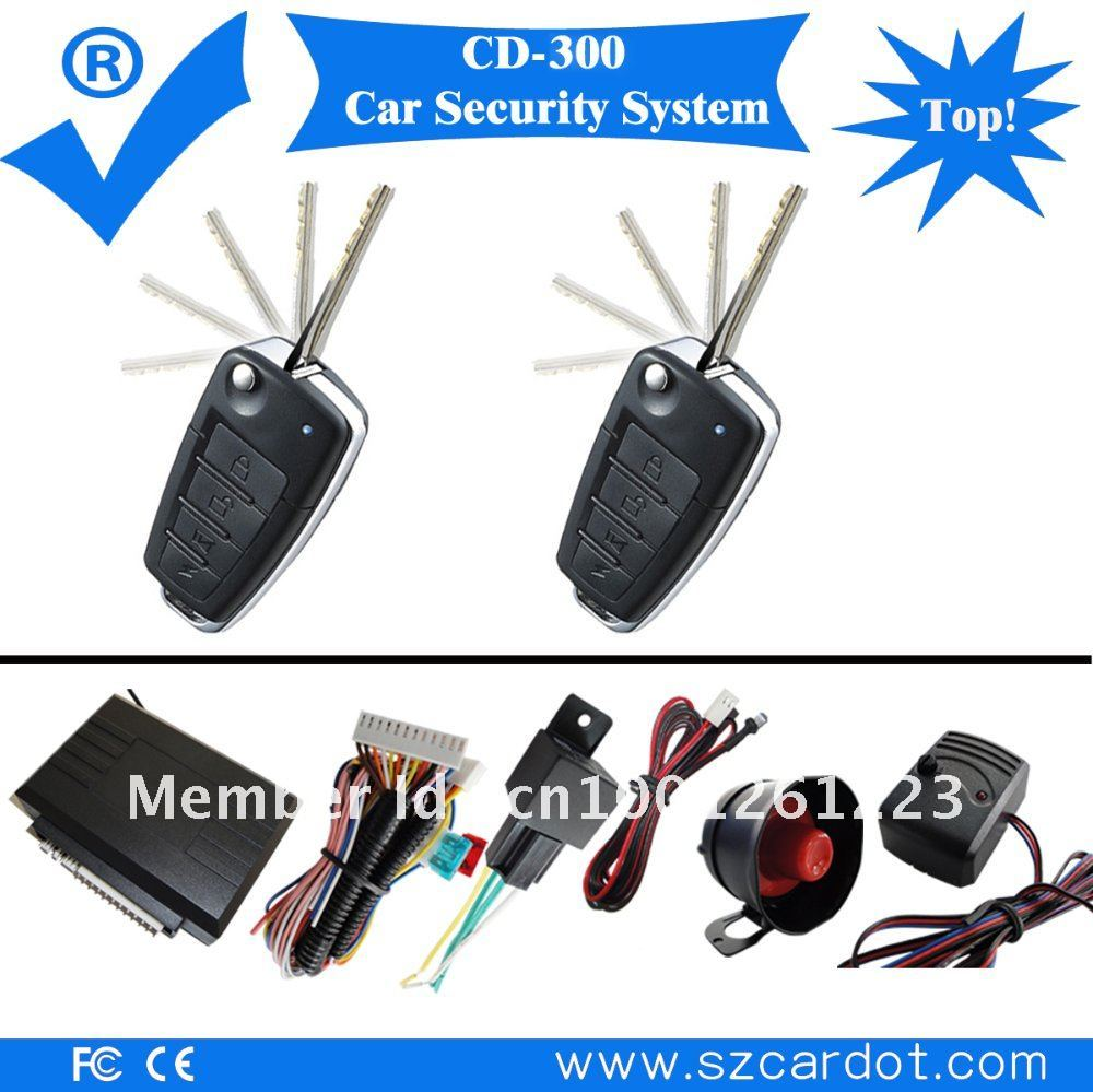 Popular car security system,benz flip key remotes with 4 functional keys,433mhz learning code(China (Mainland))