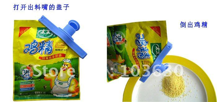 Food Storage Seal clamp / Leak material mouth/ Bag pipe Clip Clamp hand tool Food lid (JIA-002)(China (Mainland))