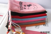 New hello kitty soft puch bag for iphone4/4S MP5.cell phone 20pcs/lot free shipping post free shipping instead of tnt
