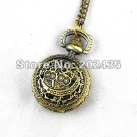 Freeshipping wholesale 20pcs/lot could mix different styles necklace small pocket watches godmat Dia27mm S489