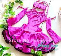 wholesales  children's Latin Dress Kid's latin skirt&tutu Stage Dance Wear