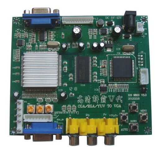 NEW Arcade game RGB/CGA/EGA/YUV to VGA HD video converter board HD9800/GBS8200 FREE SHIPPING(China (Mainland))