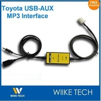 Car USB SD Aux IPOD IPHONE Adapter MP3 Integration Kit For Toyota 2x6Pin Plug