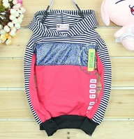 hot selling!!free shipping 5pcs/lot 2102 autumn kids girl long sleeve striped princess dresses