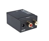 free shipping!! Digital Optical Coaxial Toslink to Analog RCA L/R Audio Converter Converts Black
