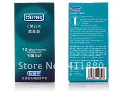 Official genuine Durex loved ones installed 12 condom durex condoms -Number of condoms 52mm free shipping(China (Mainland))