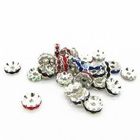 10mm Round shape Silver Plated  Copper Spacers DIY jewelry findings 40pcs/lot Free shipping HA790