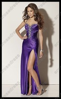 Платье на студенческий бал Sweetheart Strapless Fish Purple Prom Dress Gowns With Beadings 6233