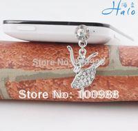 P116 10pcs/Lot free shipping fashion trendy cheap  clear rhinstone dust plug