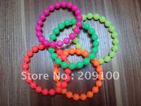 silicone bracelet/ silicone /silicone Bead bracelets