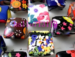 30pc Top Grade Vintage Square Resin Heavy Women's Rings Fashion Jewelry, Colorful and Beautiful,Free Shipping(China (Mainland))