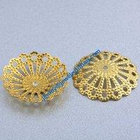5000pcs jewelry fingding brass filigree beads cup bead cap wholesale price raw brass  size 16.6mm