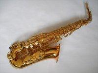New store sales promotion  paint gold alto saxophone