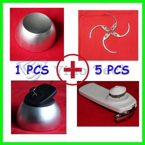 1pcs universal  golf detacher tag remover +5pcs sensormatic eas hook superlock freeshipping