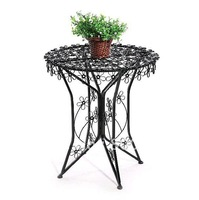 European style Iron art Round coffee table Balcony table Furniture table and Chair
