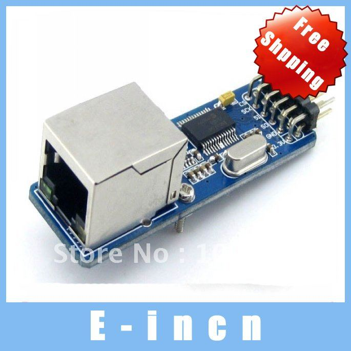 ENC28J60 controller connect MCU to Ethernet network SPI serial interface Board , free shipping(China (Mainland))