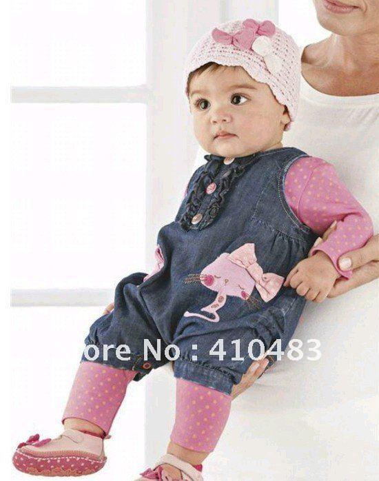 Baby girls cowboy vest t shirt pant 3pcs clothing set popular kids