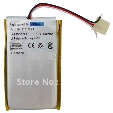 Free Shipping Battery Replacement for iPod Nano 1st Generation(China (Mainland))