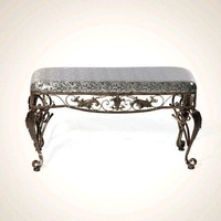 Iron art European-style Bed end stools For shoe stool Clothing stores for shoes bench Fashion home