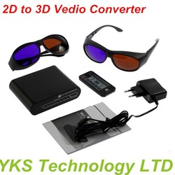 New arrival HDMI 2D to 3D Signal Vedio Converter Box For TV DVD and games drop shipping factory price(China (Mainland))