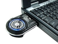 Mini Vacuum Case Cooler USB Cooling Fan for Laptop Notebook idea Blue LED light