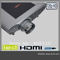 Sake Full HD 3D LED Projector, Home Theater Projector. Max Resolution1965*1650, Support  Red/Blue 3D Movie, 120W