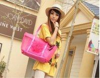 Wholesale Fashion/beautiful Grenadine flower woman ladies' handbag/shoulder bag.10pcs/lot free shipping