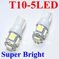 Freeshipping T10 bulb 5SMD 5050 24months warranty white 100pcs/lot car side light,car led lighting,auto led light ,wholesale