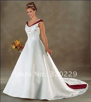 2012Brand Newone Embroidery   wedding Dress/Party Gown size&color:Custom LJ584