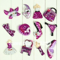DIY Resin Fridge Magnets / Originality Girl Magnets / Purple.Free Shipping  A0108021