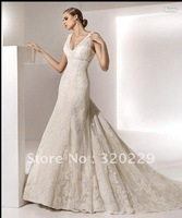 2012Brand Newone Embroidery   wedding Dress/Party Gown size&color:Custom LJ589