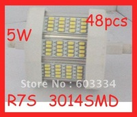 Free Shipping alibaba express R7S LED Corn Light Lamp 5W LED Bulbs with 48SMD 510LM Lamp White 85~265VAC for living room