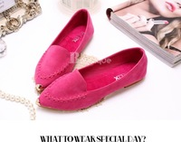 2012 the spring and autumn and the new product candy colors metal shoes head low-heeled shoes