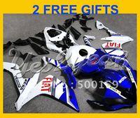 windscreen+Blue FIAT ABS full plastic fairing kit for YAMAHA YZF R1 07-08 YZFR1 2007 2008 YZF-R1 07 08 YD21