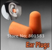 Free Shipping New Protect Foam Earplugs Ear Plugs for Travel Sleep Snoring Noise Reducer / Travel Sleeping Foam Ear Plug
