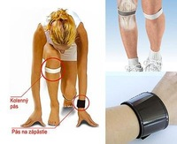 3 x DR LEVINE MAGNETIC KNEE STRAPS / SUPPORT BLACK