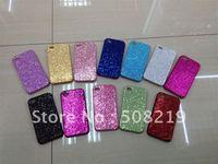Free shipping 10pcs/lot  Bling Shining Back shell hard Case For Iphone 4 4 S For iphone 4 4s Hard Case  Promotion price