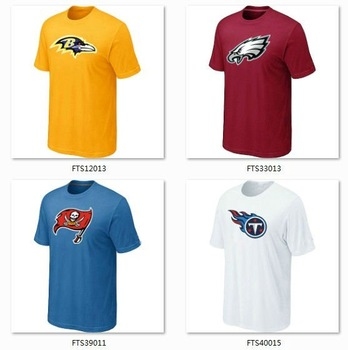 American Football Team Authentic Logo T-Shirt Fashion Summer Sport Shirt Boy Clothes Men Cotton Apparels High Quality Wholesale