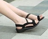 2012 NEW free shipping flat genuine leather fashion women sexy flat sandals G103 Hot sell size 34-40 factory price