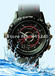 free shipping 4g watch Camera 1280*960 M DV DVR 4GB water proof watch camera(China (Mainland))