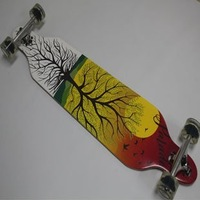 "Free shipping 42"" Sector 9 drop through Cruiser pumping slid custom canadian maple complete longboard skateboard"