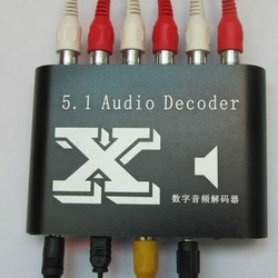 Tracking No DTS/AC3 Home Theater 5.1 Channel Audio Decode PS3 SPDIF E010 Free Shipping(China (Mainland))