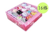 Domestic partner transparent cover 16 grid storage box Underwear quality non-woven (permeability) 26*26*9cm self storage unit