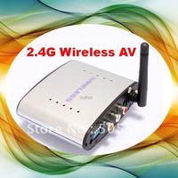2.4G Wireless AV Sender & IR Remote Extender 150M (Silver) Radio waves for Home Theater DVD/DVR/CCD Camera/IPTV/TV Set-top box