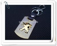 7pcs/lot, Peugeot Motor car logo Keychain,metal rotating Key Chain,Automobile badge Key Ring free shipping