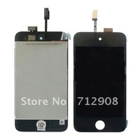Free Shipping LCD Assembly with Touch Screen Replacement Parts for iPod Touch 4th 4G   5pcs/lot
